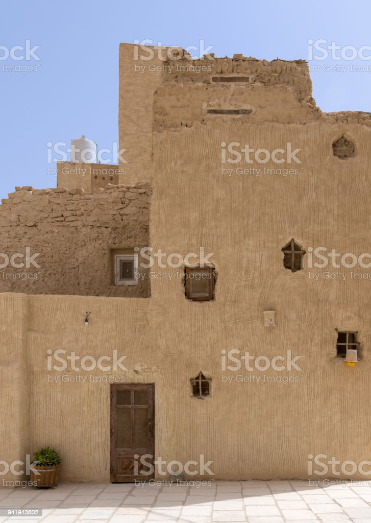 Residential buildings at the Monastery of Saint Paul the Anchorite, dates to the fifth century AD and located in the Eastern Desert, near the Red Sea mountains, Egypt stock photo