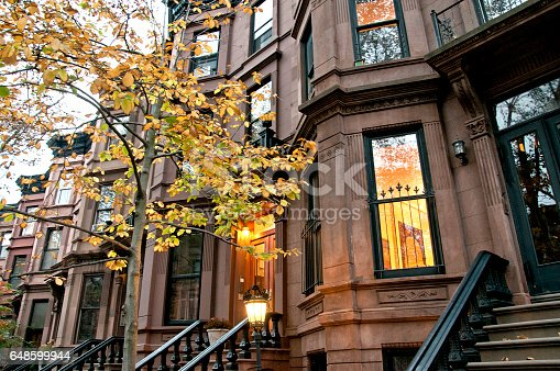 Residential buildings in Brooklyn borough, New York City