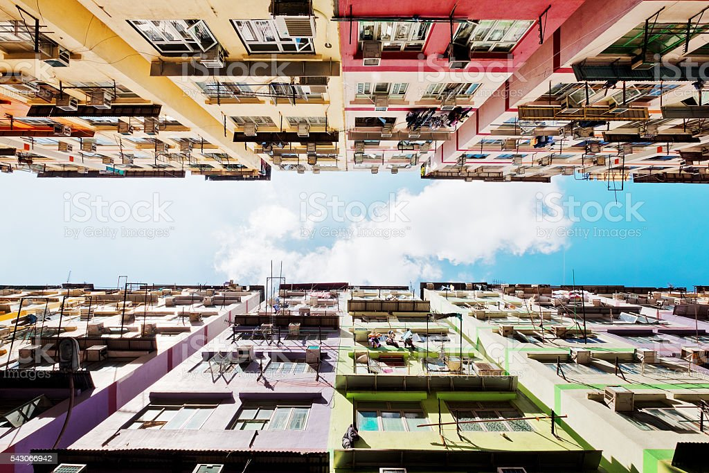 Residential buildings in Hong Kong stock photo