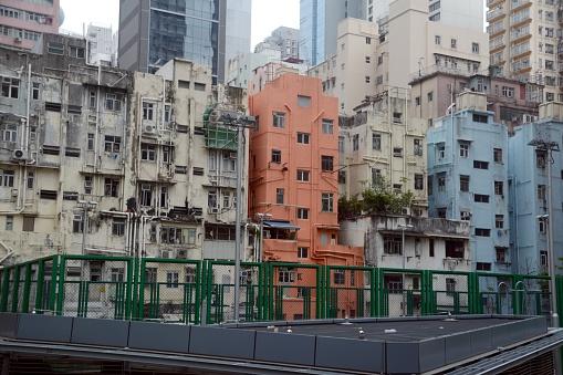 Residential Buildings In Sai Ying Pun Hong Kong Island Stock Photo - Download Image Now