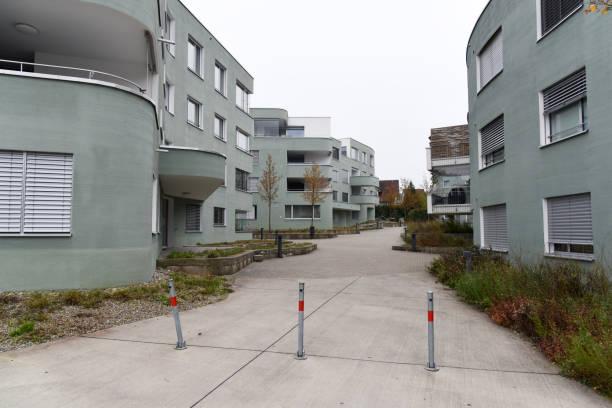 Residential Buildings Lenzburg stock photo
