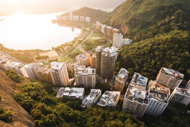 Residential Buildings Near the Lagoon in Rio de Janeiro stock photo
