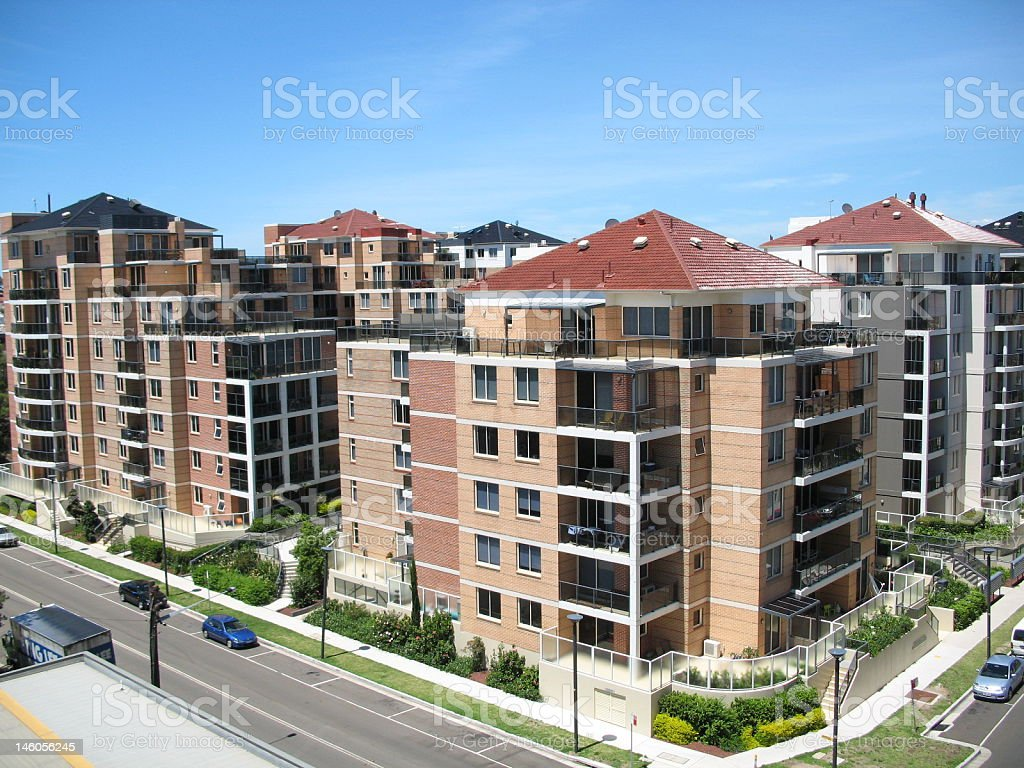 Residential Buildings or Apartments royalty-free stock photo