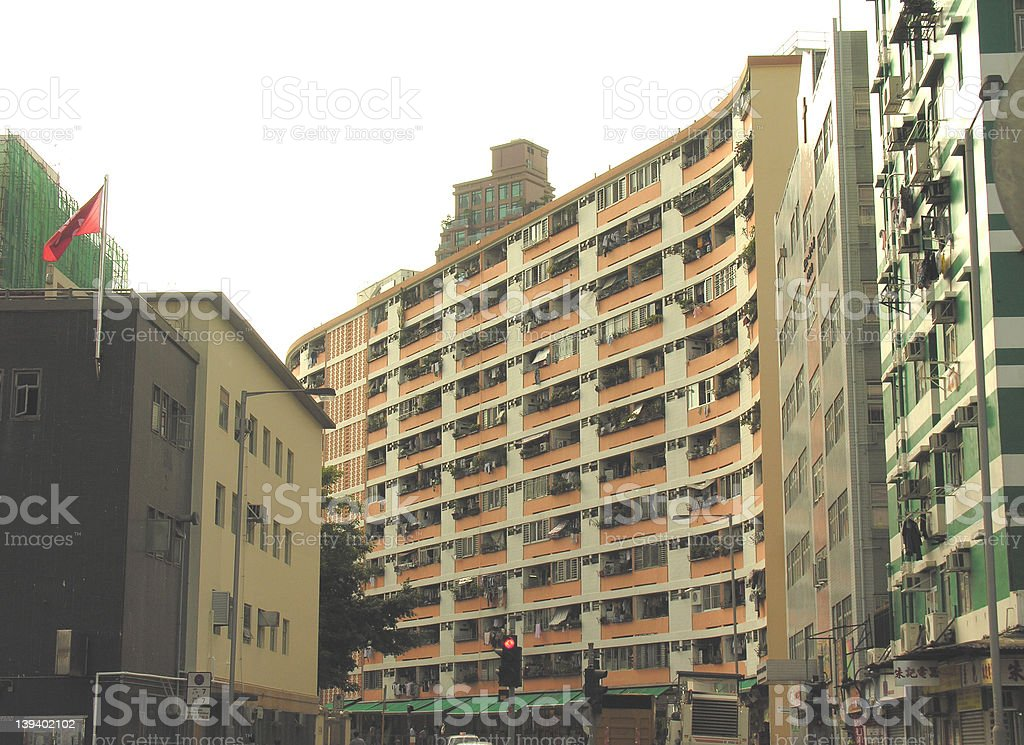 residential buildings royalty-free stock photo