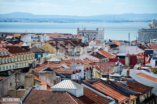 Residential buildings in Lisbon, Portugal.