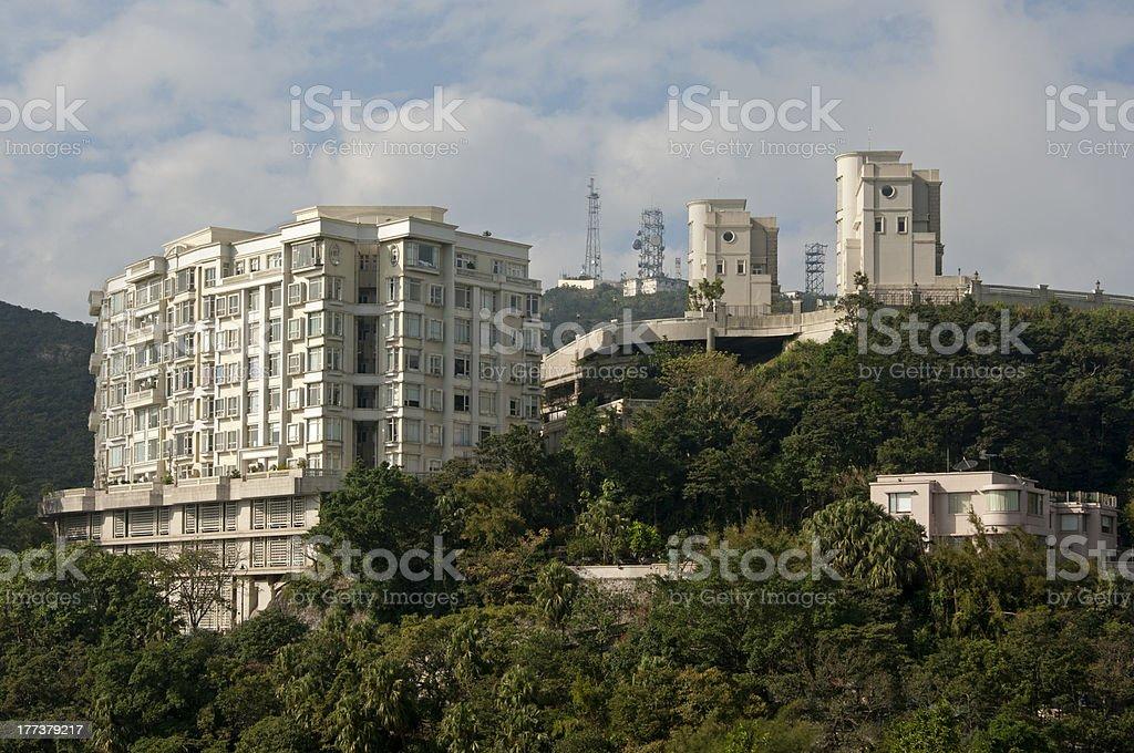 Wohnhäuser, Victoria Peak, Hong Kong – Foto
