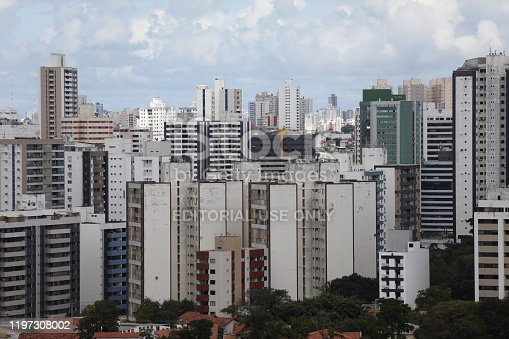 salvador, bahia / brazil - october 1, 2019: View of residential and commercial buildings in the Pituba neighborhood.
