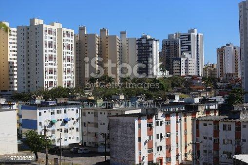 salvador, bahia / brazil - august 9, 2018: View of residential buildings in the Imbui neighborhood.