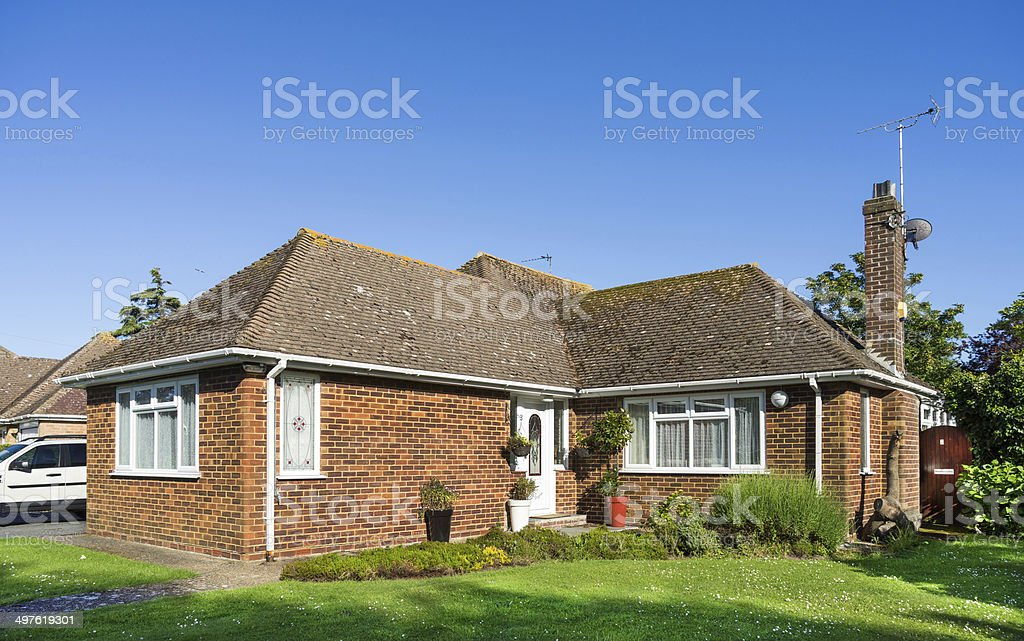Residential bungalow home - UK stock photo