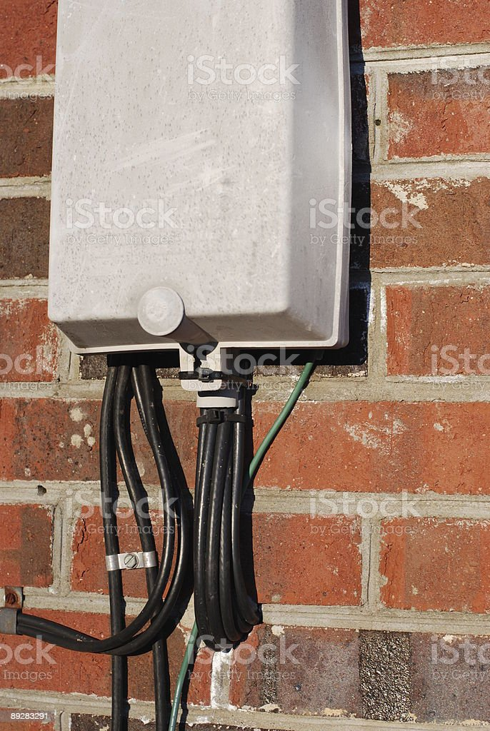 Residential Cable Box stock photo