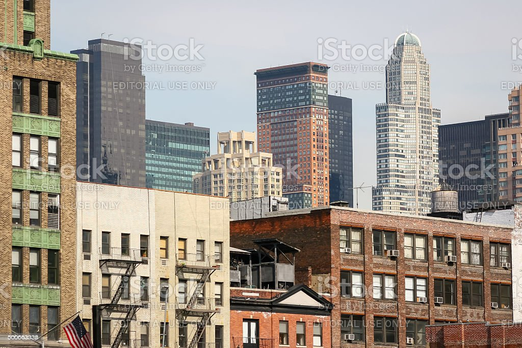 Residential cityscape of Manhattan stock photo