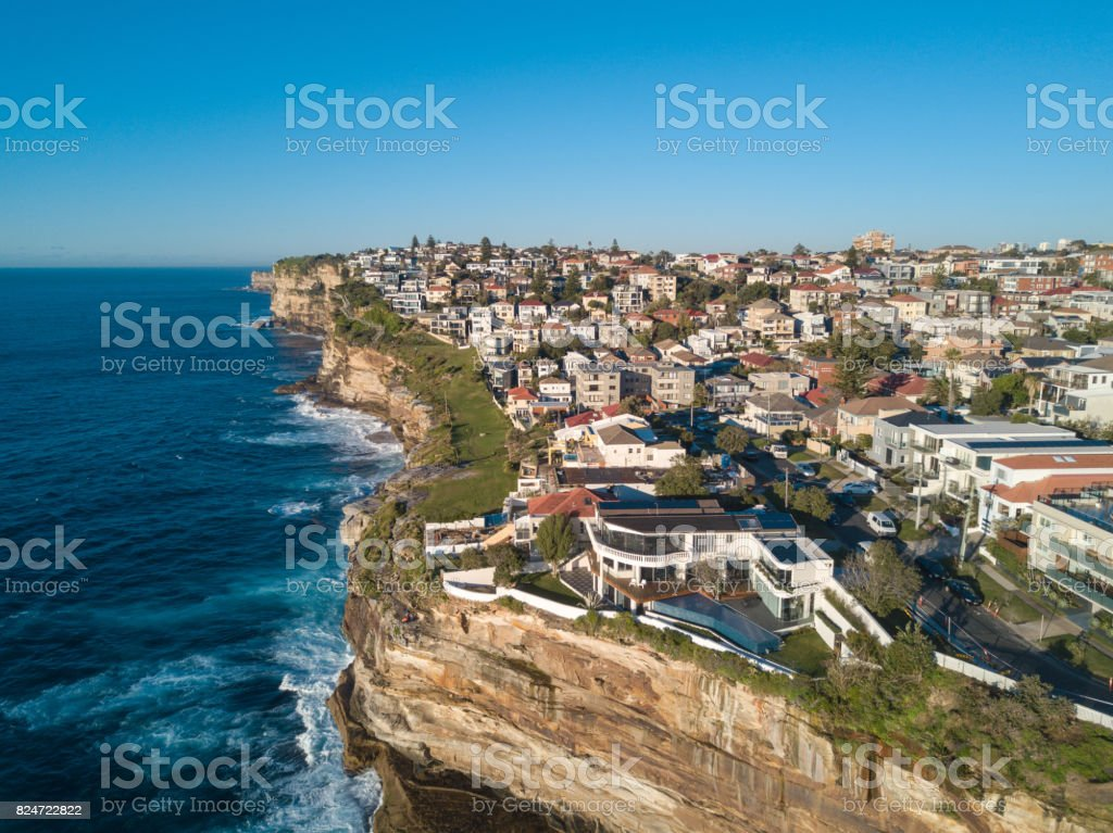 Residential Coastline stock photo