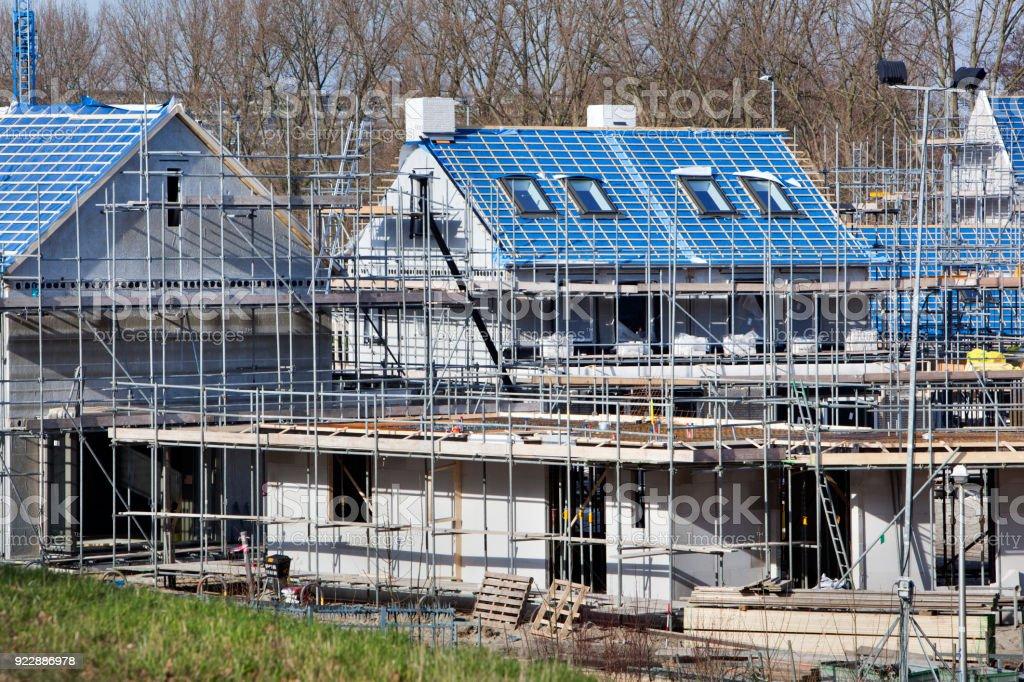 Residentiële bouwplaats in Nederland foto