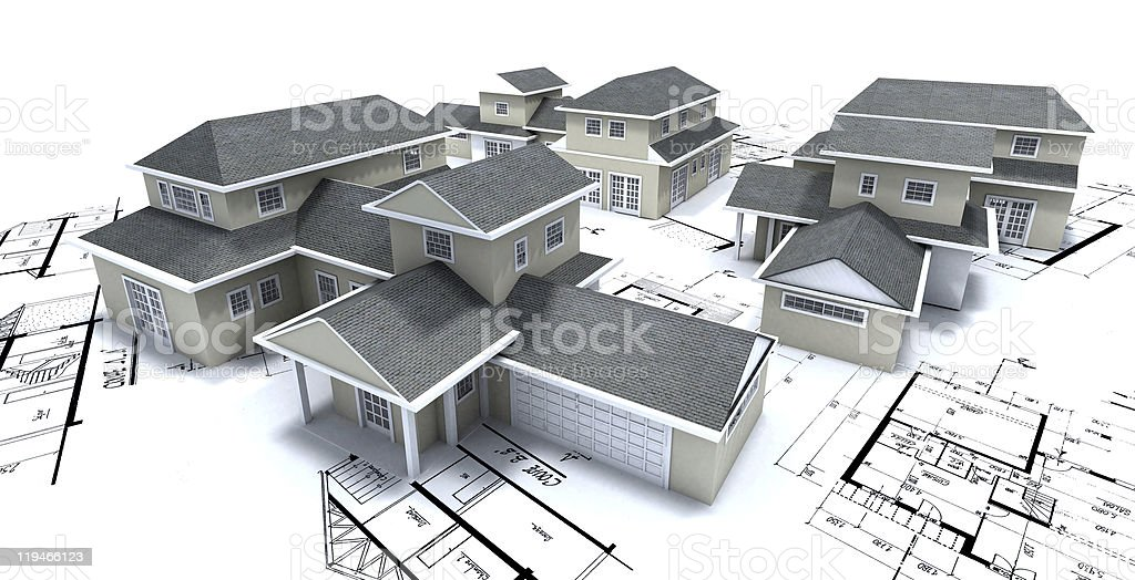 Residential development royalty-free stock photo