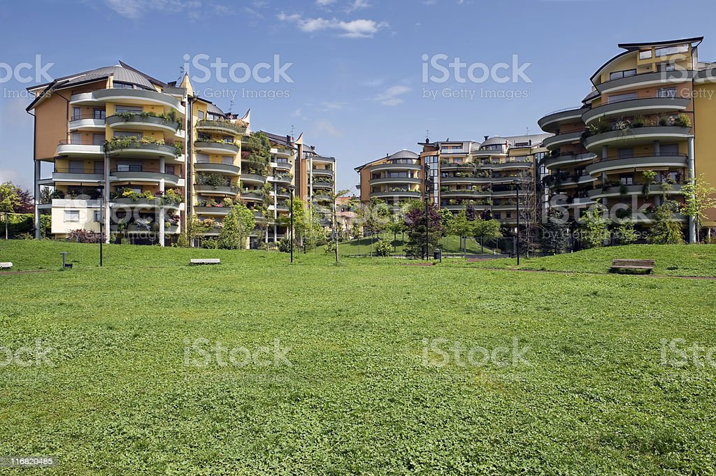 Residential District. Color Image royalty-free stock photo