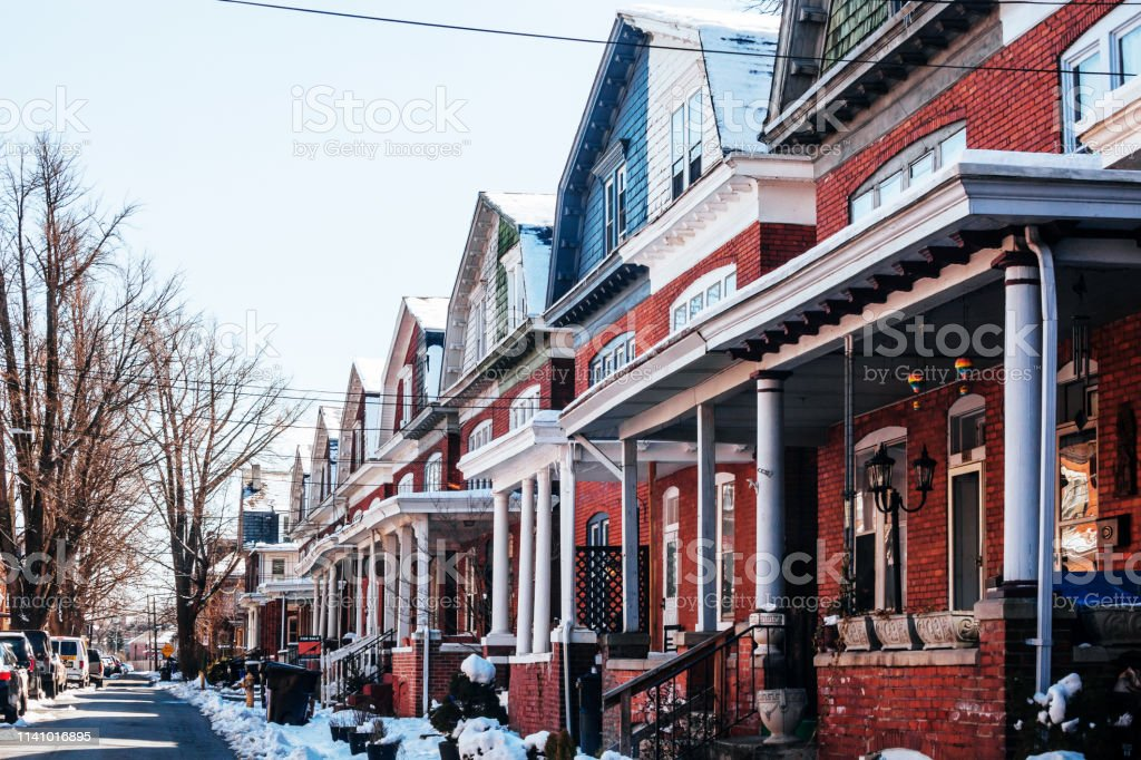 Residential district - Harrisburg, PA stock photo