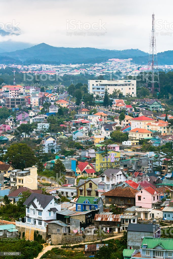 Residential District in Da Lat stock photo