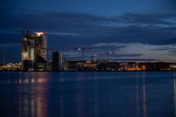 Residential district in Kalasatama, Helsinki stock photo