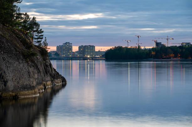 Residential district in Merihaka, Helsinki stock photo
