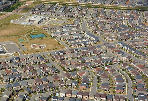 residential district Milton, aerial – Foto