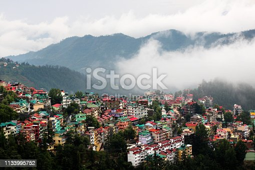 Residential district in Himalayas.