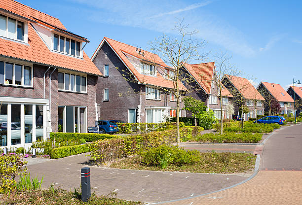 Residential district stock photo