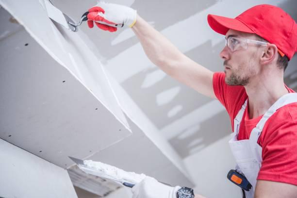 Remendando residencial Drywall - foto de acervo