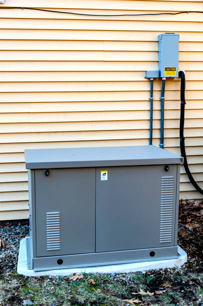 Residential Generator stock photo