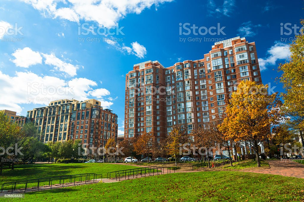 Residential highrise buildings in Alexandria, Virginia stock photo
