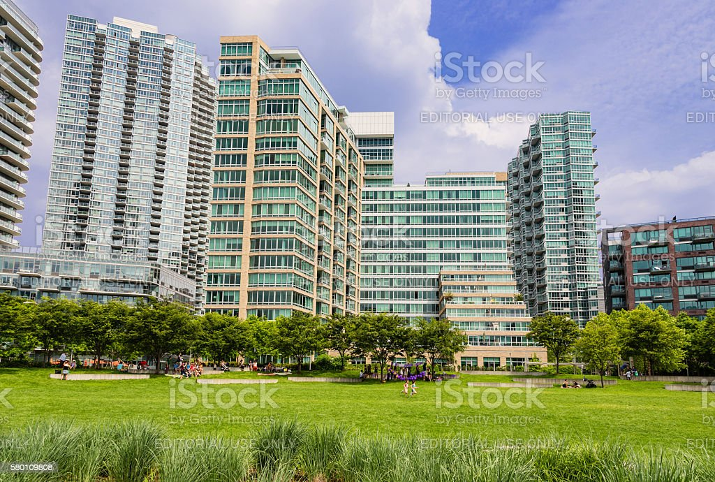 Residential Highrises in Long Island City, Queens, New York. stock photo