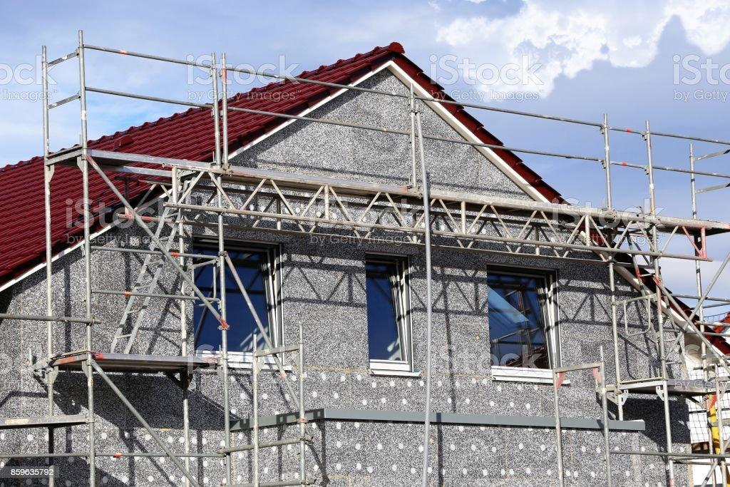 Wohnhaus mit Wärmedämmung / Fassade Insolution – Foto