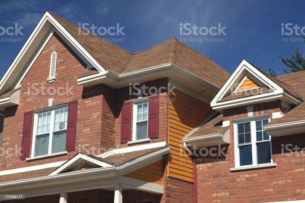 Residential house close-up royalty-free stock photo