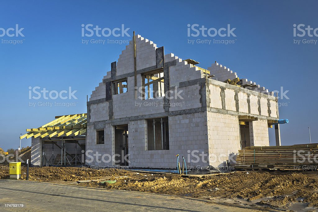Residential House under construction royalty-free stock photo