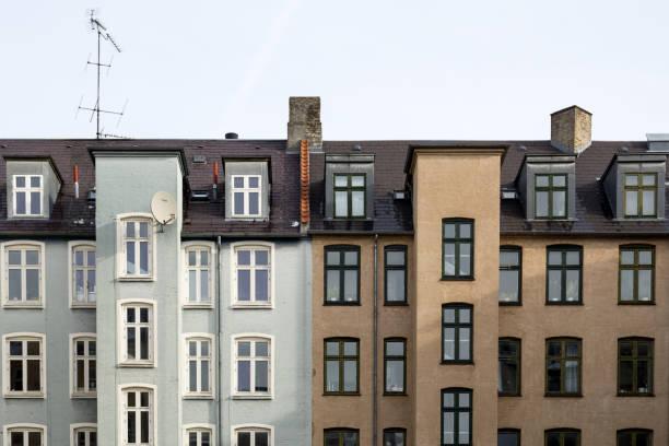 Casas residenciales en Copenhague, Dinamarca - foto de stock