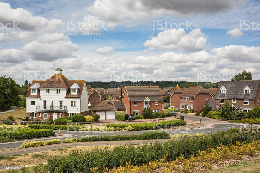 Residential Houses in Kent stock photo