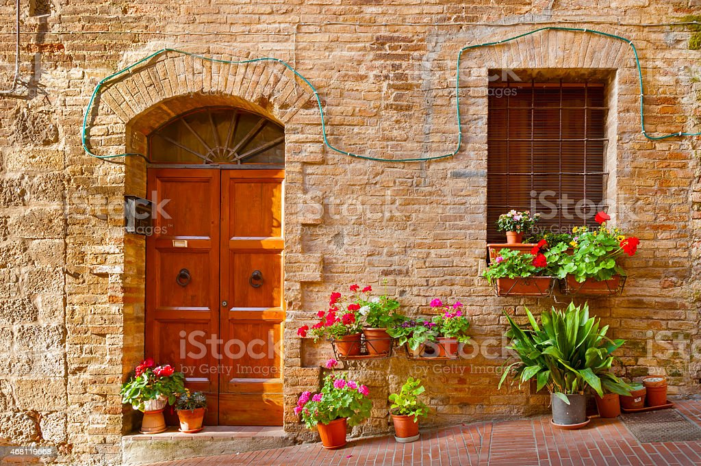 Residential in Tuscany, Italy stock photo