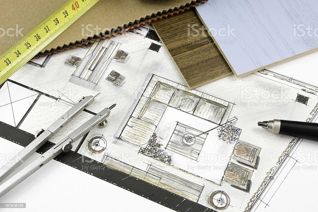 Residential Interior Design royalty-free stock photo