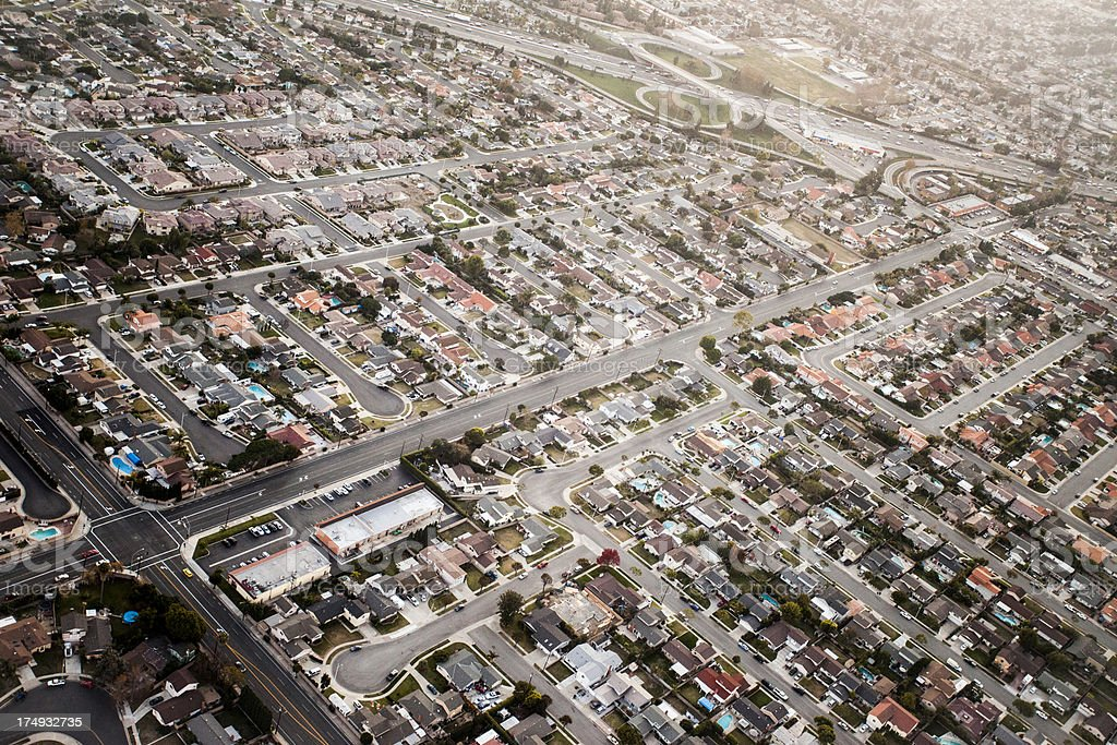 Residential Los Angeles, CA royalty-free stock photo