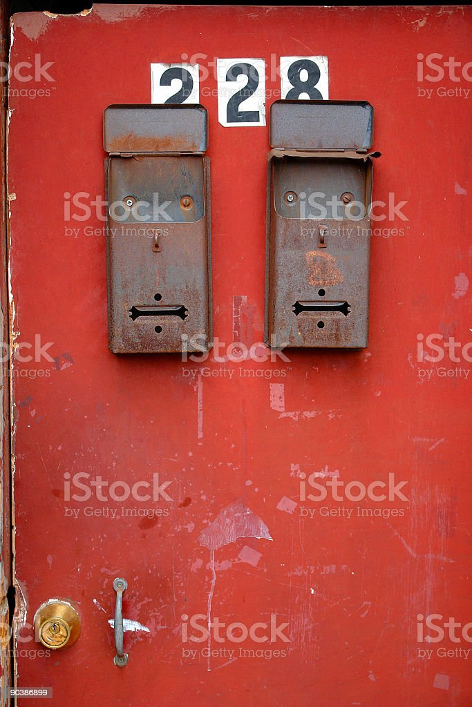 residential mailboxes royalty-free stock photo