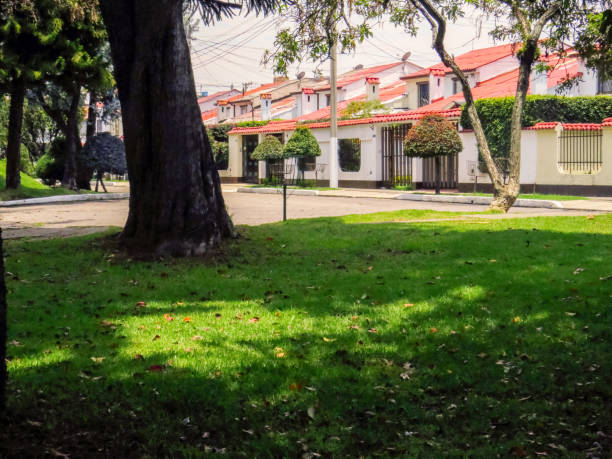Residential neighborhood in Bogota Colombia Residential neighborhood in Bogota Colombia gated community stock pictures, royalty-free photos & images