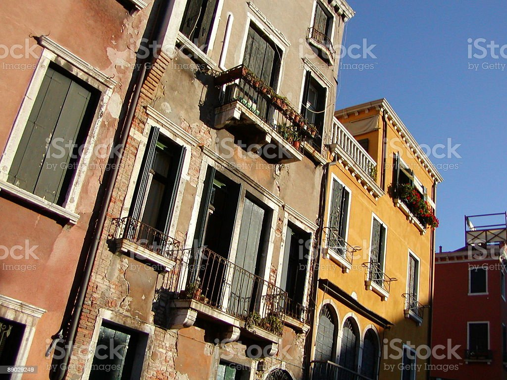 Residential Neighborhood, Venice, Italy. royalty-free stock photo