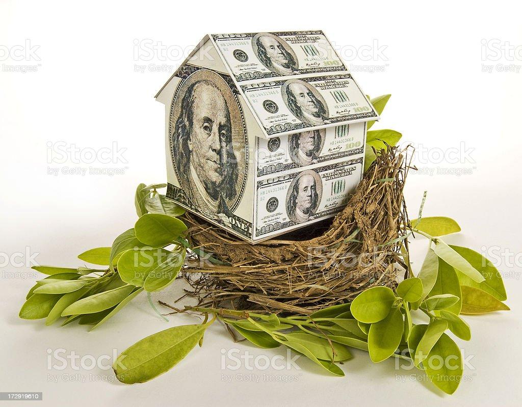 Residential Nest Egg stock photo
