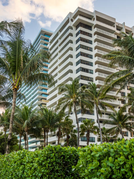 Residential or hotel building at tropical resort stock photo