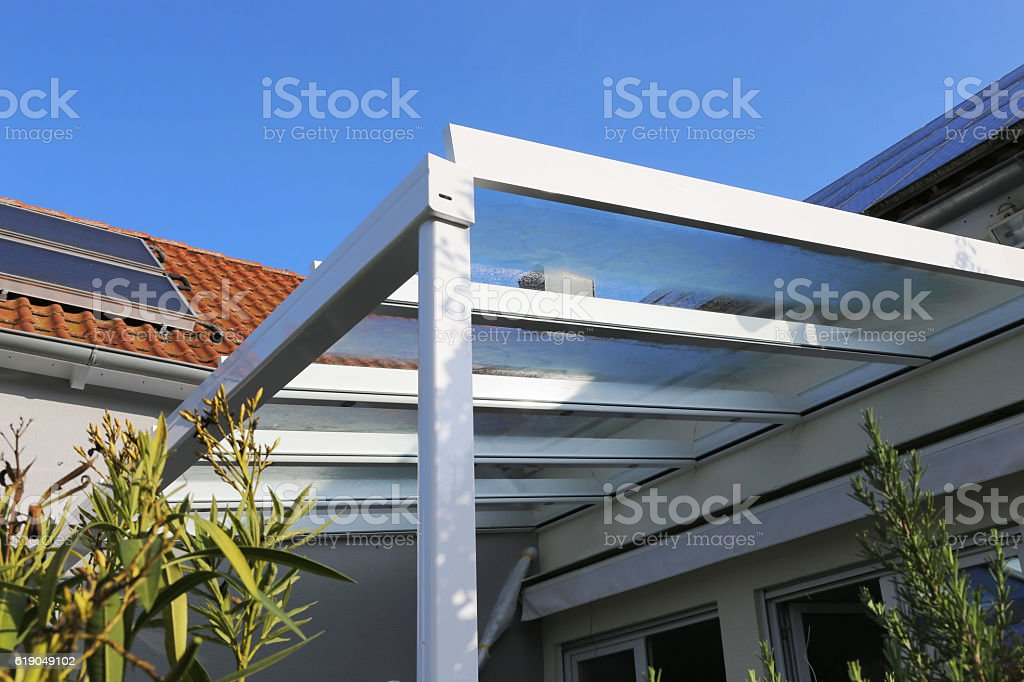Residential patio or terrace canopy – Foto