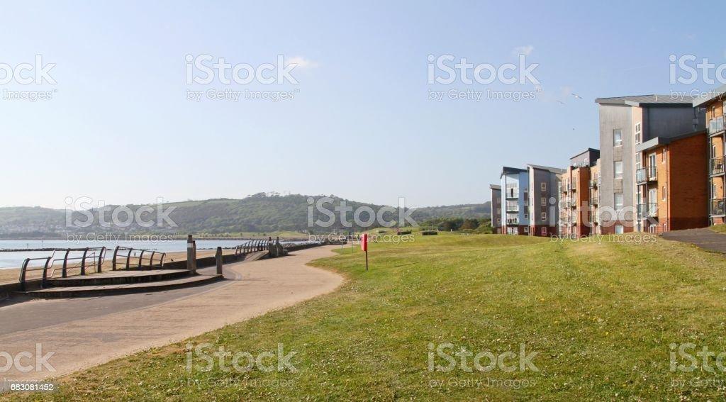 residential properties at beach foto de stock royalty-free