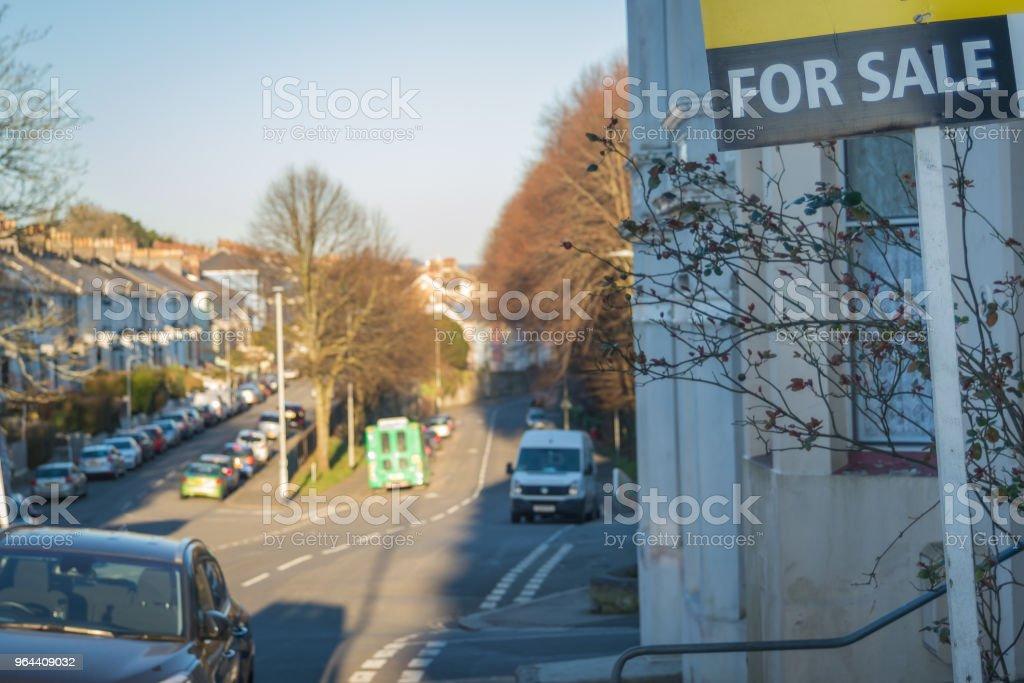 Residencial imóveis para venda na rua do Reino Unido - Foto de stock de Aberto royalty-free