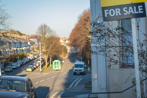 Foto de Residencial Imóveis Para Venda Na Rua Do Reino Unido e mais fotos de stock de Aberto