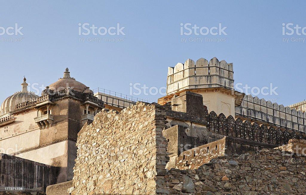 Residential quarters Kumbhalghar Fort stock photo
