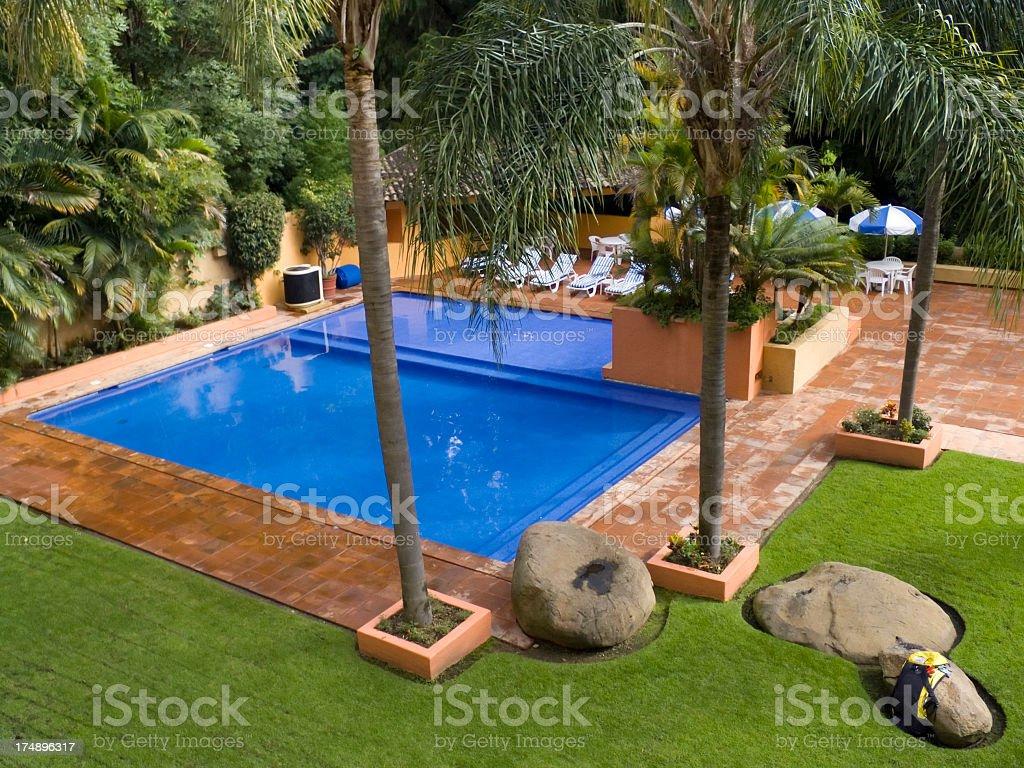 Residential resort pool royalty-free stock photo