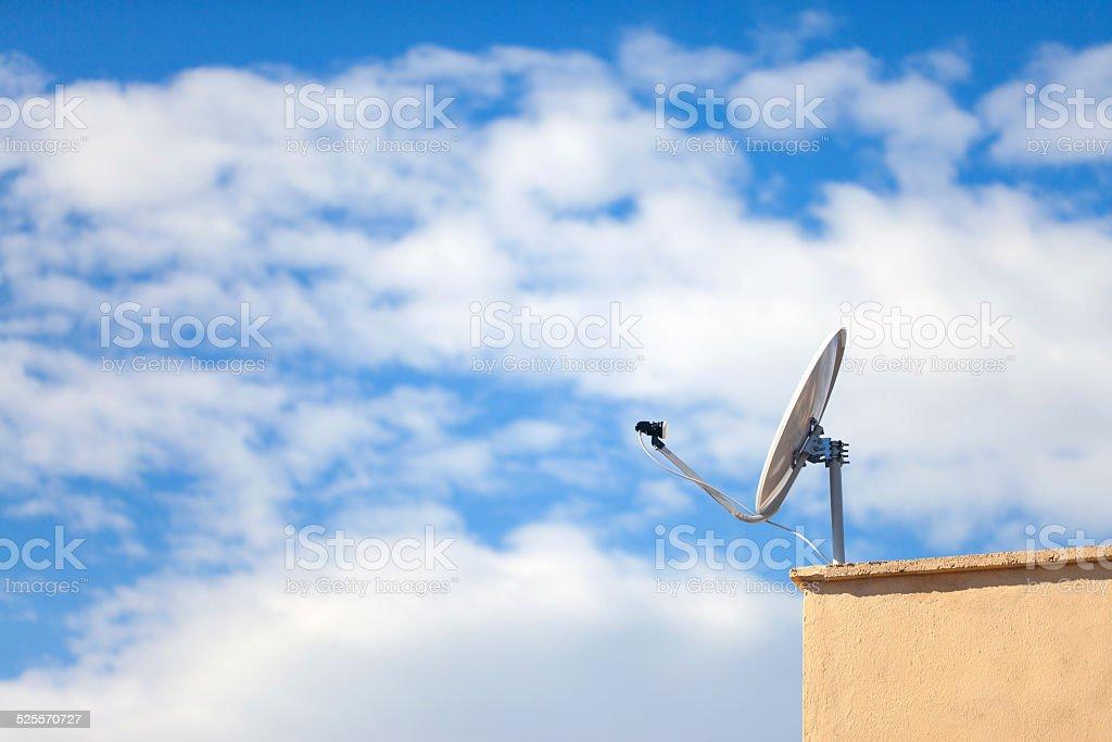 Residential satellite dish stock photo
